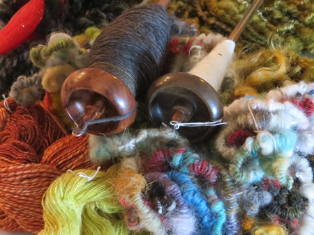 Linda Scharf - Learn to make yarn class Fuller Craft Museum
